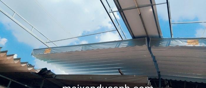 Báo giá mái xếp, bạt xếp bạt kéo lùa lượn sóng di động phát đạt tại lào cai