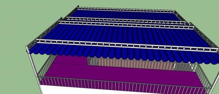 Báo giá mái xếp, bạt xếp bạt kéo lùa lượn sóng di động phát đạt tại TP Sóc Trăng