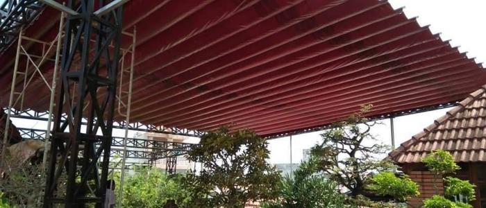 Mái xếp mái che bạt kéo di động cao cấp