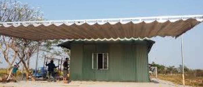 Mái xếp, mái che, mái bạt kéo lùa di động sân trước nhà