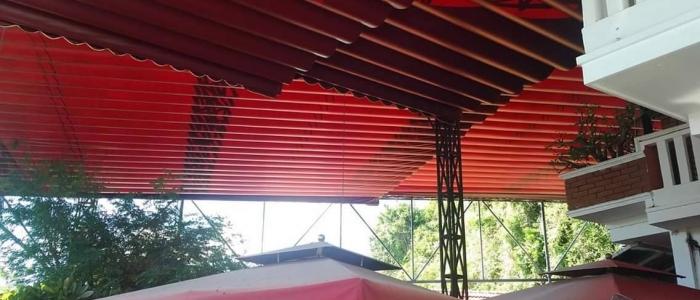 Báo giá mái xếp, bạt xếp bạt kéo lùa lượn sóng di động phát đạt tại nhơn trạch