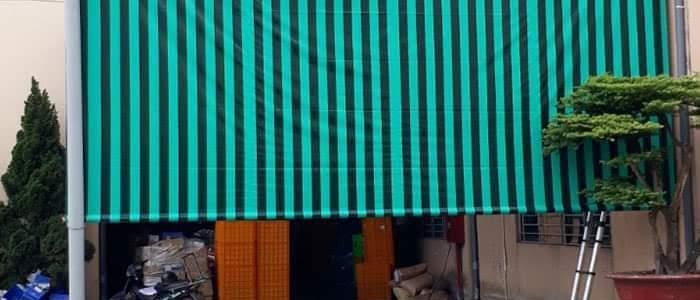 mái xếp bạt kéo lượn sóng mẫu mới đẹp nhất hòa phát đạt