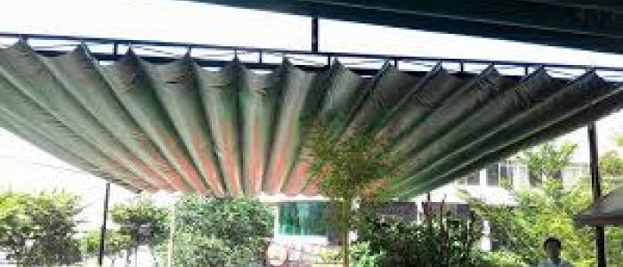 Mái xếp, mái che, mái bạt kéo lùa di dộng sân vườn