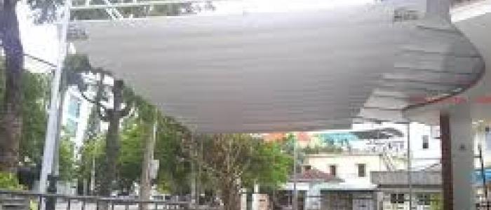 Báo giá mái xếp, bạt xếp bạt kéo lùa lượn sóng di động phát đạt tại quận 9