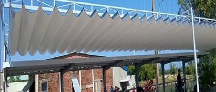 Báo giá mái xếp, bạt xếp bạt kéo lùa lượn sóng di động phát đạt tại tp tuy hòa phú yên