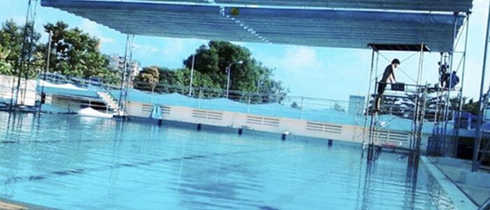 mái xếp hồ bơi
