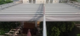 Mái xếp, mái che, mái bạt kéo lùa di động quán cafe