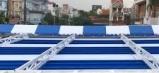 Mái xếp, mái che, mái bạt kéo lùa di động sân trường